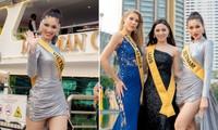 Ngọc Thảo khoe chân dài 1m11, quẩy cực 'sung' bên dàn thí sinh Miss Grand 2021