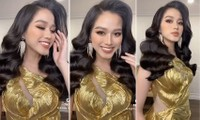 Hoa hậu Đỗ Thị Hà diện váy vàng gold cắt xẻ sexy, khoe loạt thần thái 'đỉnh cao'