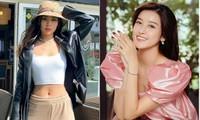 Huyền My diện váy hồng xinh như công chúa, Á hậu Diễm Trang mặc crop-top khoe eo thon sexy