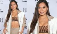 Hoa hậu Hoàn vũ Andrea Meza diện mốt khoe áo ngực táo bạo tại Tuần lễ thời trang New York