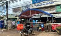 Lực lượng chức năng phong tỏa chợ Fi Nôm