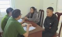 Nhóm học sinh tại cơ quan điều tra