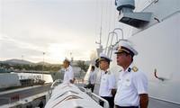 Tàu hộ vệ tên lửa Quang Trung cập cảng Vladivostok, bắt đầu thăm Nga