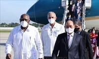 Hình ảnh Chủ tịch nước Nguyễn Xuân Phúc đến Cuba, bắt đầu chuyến thăm chính thức