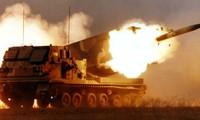 Siêu pháo M270 MLRS khai hỏa. Ảnh: Vpk.name