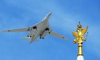 Máy bay ném bom chiến lược Tu-160. Ảnh: Bộ Quốc phòng Nga