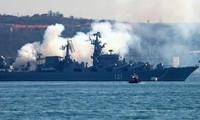 Hạm đội Biển Đen của Nga diễn tập tác chiến trên Địa Trung Hải
