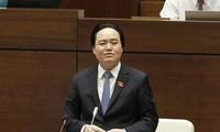 Bộ trưởng Bộ Giáo dục và Đào tạo Phùng Xuân Nhạ. (Ảnh: Văn Điệp/TTXVN)