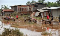Khung cảnh tan hoang tại một ngôi làng huyện Sanamxay, tỉnh Attapeu, Lào sau vụ vỡ đập. Ảnh: Thành Nguyễn.