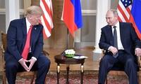 Tổng thống Mỹ Donald Trump có thể hủy cuộc gặp với người đồng cấp Nga Vladmir Putin tại G20. Ảnh: RIA Novosti