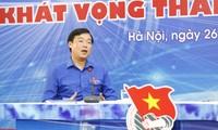 Anh Lê Quốc Phong, Ủy viên dự khuyết BCH T.Ư Đảng, Bí thư thứ nhất BCH T.Ư Đoàn. Ảnh: Như Ý
