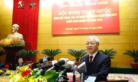 Tổng Bí thư Nguyễn Phú Trọng tham dự hội nghị.