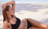 Hình ảnh bạn gái nam tài tử gạo cội Jason Statham mặc áo tắm chụp hình quảng cáo trên Dailymail mới đây đốn tim fan.