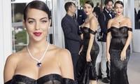 Bạn gái Cristiano Ronaldo khoe ngực đầy nóng bỏng trên thảm đỏ Cannes