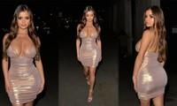 'Kim Kardashian nước Anh' diện đầm màu nude sẻ xâu phô vòng 1 ngoại cỡ