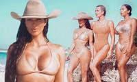 Kim Kardashian và hội chị em 'thiêu đốt' ánh nhìn với bikini màu nude