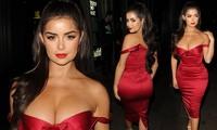 'Kim Kardashian nước Anh' mặc trễ vai khoe vòng 1 'nghẹt thở'