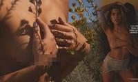 Mẫu nội y có 3 vòng 'vàng' khỏa thân 'bỏng rẫy' trên tạp chí đàn ông