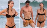 Liam Hemsworth khoe cơ bụng 6 múi, bạn gái mặc bikini dáng như tạc tượng