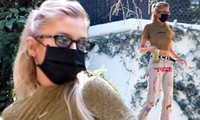 Không nội y, 'thiên thần nội y' Stella Maxwell mặc ôm sát khoe dáng siêu mẫu