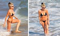 'Bom gợi cảm' Charlotte McKinney mặc bikini siêu bé, căng tràn sức sống ở biển