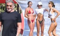 Vợ con 'Huyền thoại Rambo' Sylvester Stallone khoe dáng quyến rũ ở biển