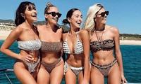 Hoa hậu Hoàn vũ Olivia Culpo và hội chị em tưng bừng với 'tiệc bikini' ở biển