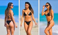 Người đẹp Montana Yao 'bốc lửa' ở biển với bikini bé xíu