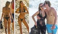 Kimberley Garner đẹp như tạc tượng với bikini bé xíu, tình tứ bạn trai ở biển