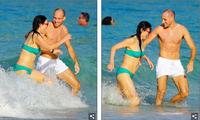 Nữ tỷ phú Trung Quốc - vợ cũ trùm truyền thông Rupert Murdoch vui đùa với trai lạ ở biển