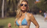 Mẫu nội y 9x Cindy Prado phô thể hình nóng bỏng với bikini