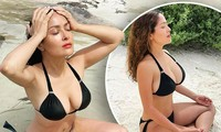 'Bom gợi cảm' Salma Hayek khoe body nóng bỏng với bikini