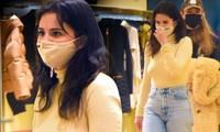 Selena Gomez mặc phong cách không nội y ra phố