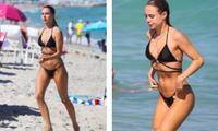 Kimberley Garner đẹp như mộng ở biển với bikini bé xíu