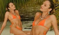 'Thiên thần nội y' Candice Swanepoel đường cong 'siêu thực' với bikini bé xíu