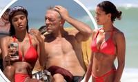 Tài tử Vincen Cassel đi biển với vợ người mẫu kém 30 tuổi