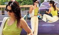 'Siêu mẫu đắt giá nhất thế giới' Kendall Jenner lại 'thả rông' ra phố