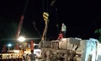 Khởi tố tài xế xe container đè bẹp xe khách làm 3 người chết
