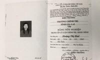 Bà Huê dùng bằng PTTH giả để học, lấy bằng Trung cấp lý luận chính trị