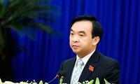 Ông Đặng Phan Chung trong một cuộc họp đầu tháng 7 (ảnh cắt từ Báo Gia Lai)