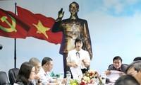 Bà Nguyễn Thị Thanh Lịch tại buổi làm việc triển khai nhiệm vụ Giải Tiền Phong Marathon 2021