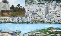 Mơ ước về các đô thị vệ tinh giải nguy cho nội đô (ảnh lớn) và hiện trạng sau nhiều năm (ảnh nhỏ). Ảnh: Như Ý - Ngọc Mai.