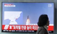 Triều Tiên thử tên lửa đạn đạo hôm Chủ nhật. Ảnh: YTN.