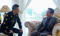 NSND Hoàng Dũng và diễn viên Việt Anh trong phim Người phán xử. Ảnh: Kiến Nghĩa.