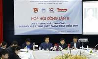 Hội đồng xét tặng Giải thưởng Gương mặt trẻ Việt Nam tiêu biểu 2017 họp lần II dưới sự chủ trì của Bí thư thứ nhất T.Ư Đoàn Lê Quốc Phong, ngày 12/3. Ảnh: Như Ý.