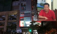 """Khu nhà hàng, khách sạn nguy nga của """"đại gia"""" Voòng tại khu đô thị Phú Lộc ( TP Lạng Sơn) (ảnh lớn), đối tượng Voòng tại cơ quan điều tra (ảnh nhỏ). Ảnh: Duy Chiến."""