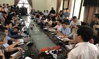 Quang cảnh buổi họp báo tại Hà Giang chiều 17/7. Ảnh: T.D.