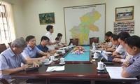 Tổ công tác làm việc với Hội đồng thi Sở GD&ÐT Hà Giang. Ảnh : GD&ÐT.