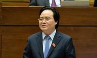 Bộ trưởng Bộ GD&ÐT Phùng Xuân Nhạ. Ảnh: N.H.