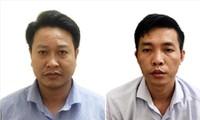 Bị can Nguyễn Khắc Tuấn (trái) và Ðỗ Mạnh Tuấn. Ảnh: Cơ quan điều tra.
